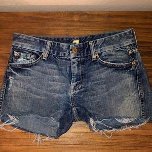 7 For All Mankind Denim Cutoff Shorts • Size 27